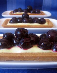 Blueberry Tarts with Meyer Lemon Cream