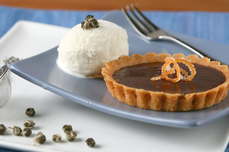 Bittersweet Citrus Tart With Jasmine Cream Recipe — Dishmaps
