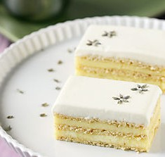 The Opera Cake Goes Lemon and Lavender