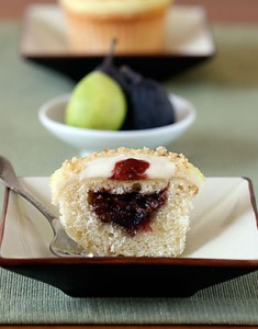 Figs for Fall: Vanilla Bean Fig Cupcakes with Orange Blossom Honey Frosting