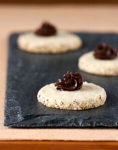 From the Pantry: Almond Shortbread with Chocolate Raspberry Truffle Ganache