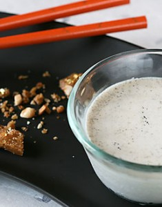 Fall and the Full Moon: Black Sesame Panna Cotta with Five Spice Peanut Brittle