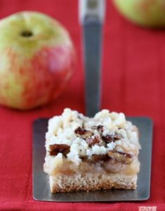 Apple, Pecan, and Cinnamon Crumble Bars