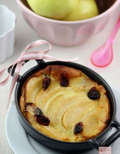 A Clafouti For Chilly Days: Apples, Cranberries, and Vanilla Bean