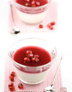 Passion in Panna Cotta: Lychee and Pomegranate Panna Cotta