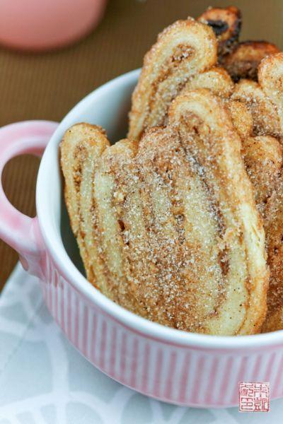 Pecan Cinnamon Sugar Palmiers on dessertfirstgirl.com