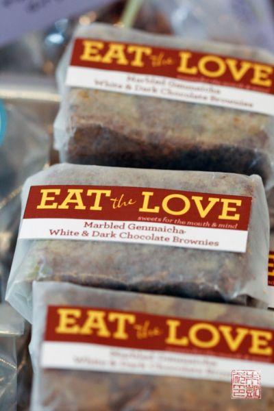 Genmaicha brownies - Bake sale tips at dessertfirstgirl.com