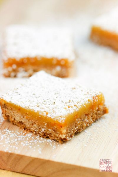 Apricot Hazelnut Lemon Bars on dessertfirstgirl.com
