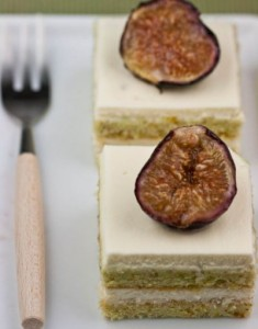 Fig and Pistachio Cake for Fall