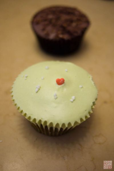 kisses matcha cupcake