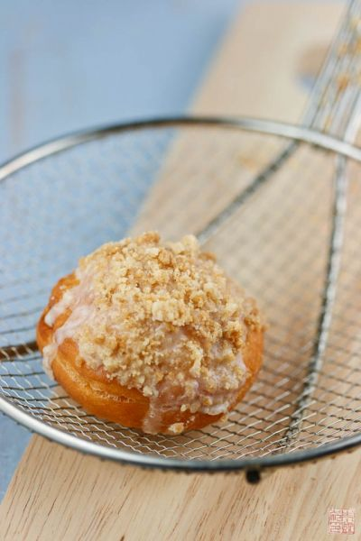 apple crumb donut strainer