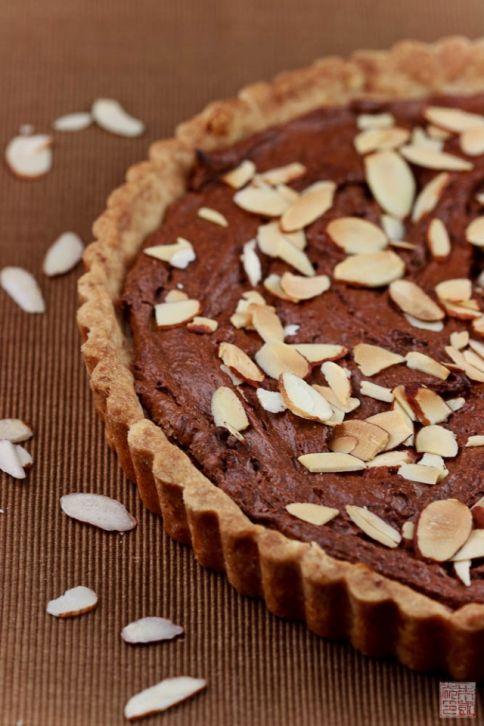 choco frangipane tart