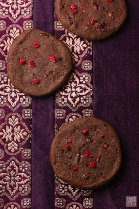 chocolate sables overhead
