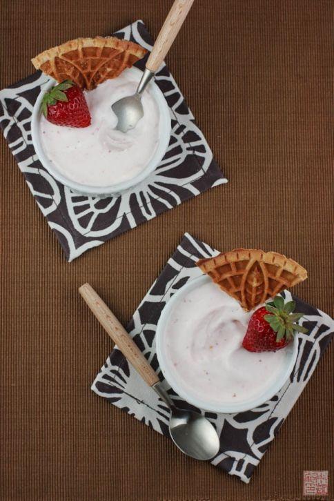 strawberry ice cream overhead
