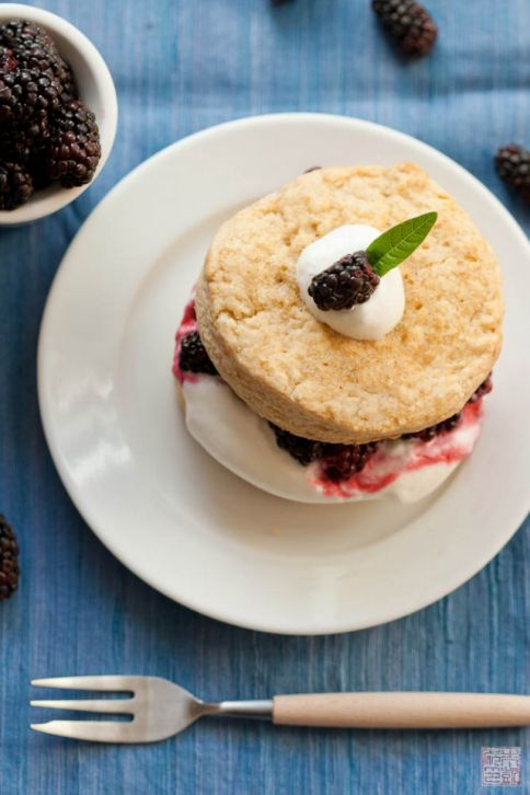 olallieberry shortcake top
