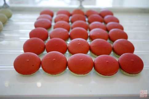 raspberry lemon verbena macarons