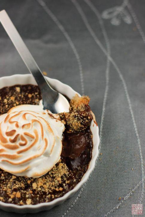 Smores Creme Brulee on dessertfirstgirl.com