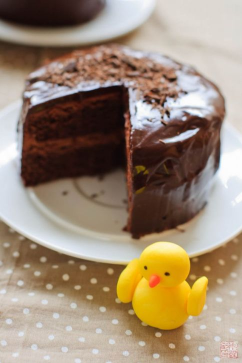 Chocolate Easter Egg Cake interior