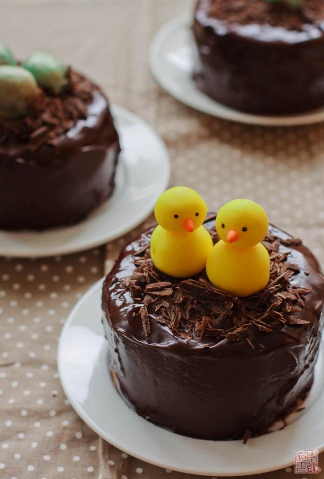 the cake i chose was the chocolate cake with truffle
