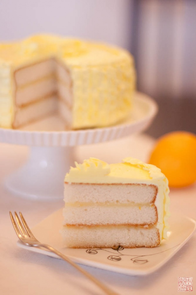Triple Vanilla Cake With Meyer Lemon Curd On Dessertfirstgirl Com