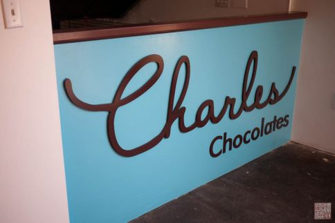 charles chocolates sign