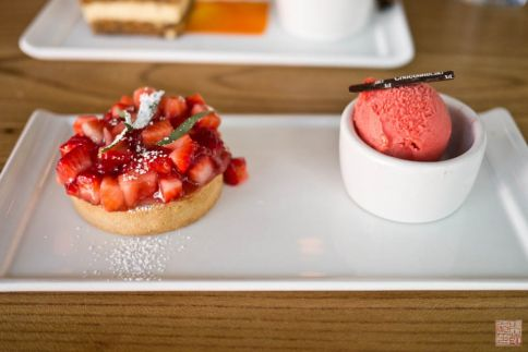 choco lab strawberry tart