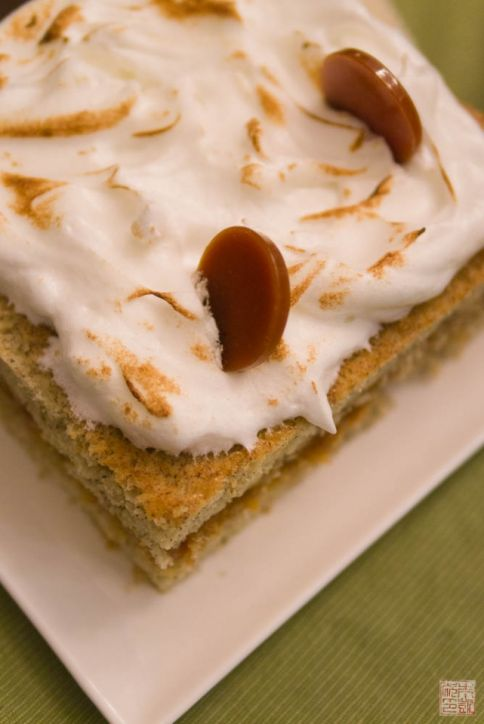 Banana Cake with Passionfruit Caramel