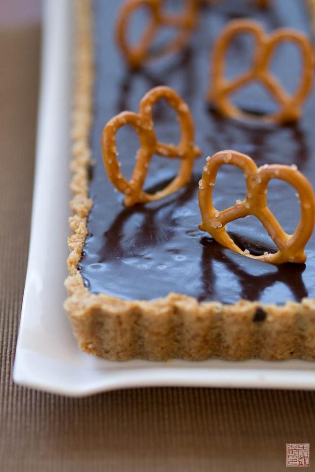 Back to Childhood: Malted Milk Chocolate Pretzel Tart