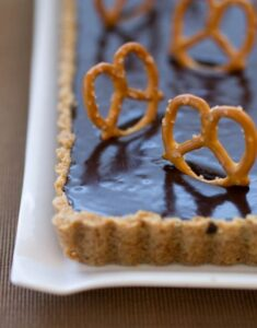 Back to Childhood: Malted Milk Chocolate Pretzel Tart