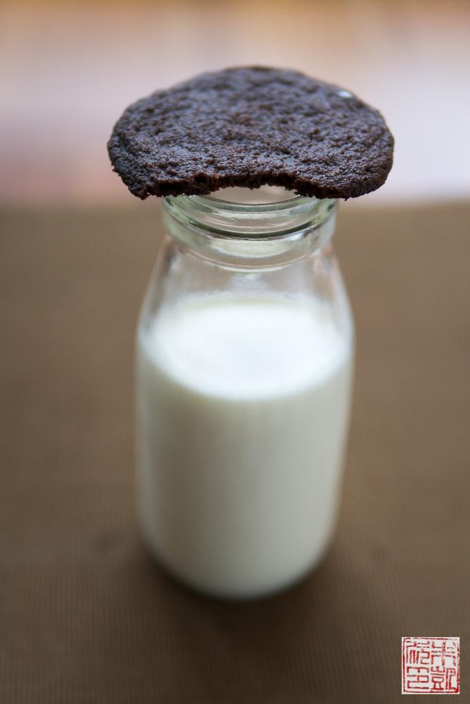 chocolate wafer cookies milk