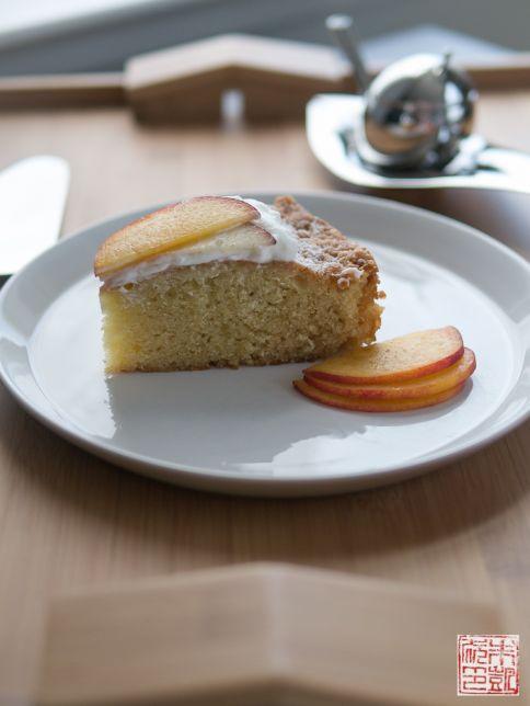 Olive Oil Cake slice and taster
