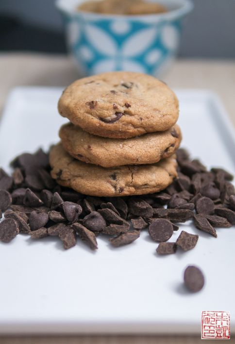 Brown Butter Choc Chip Cookie Stack