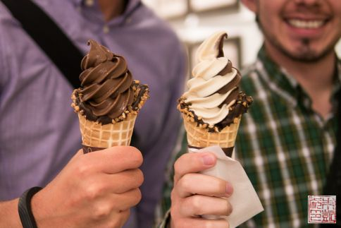 Godiva soft serve cones