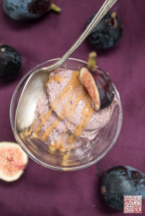 Roasted Fig Gelato Balsamic Caramel