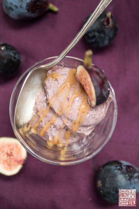 Roasted Fig Gelato Balsamic Caramel
