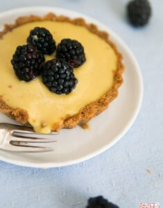 Eat Dessert First Month: Blackberry Mango Curd Tarts