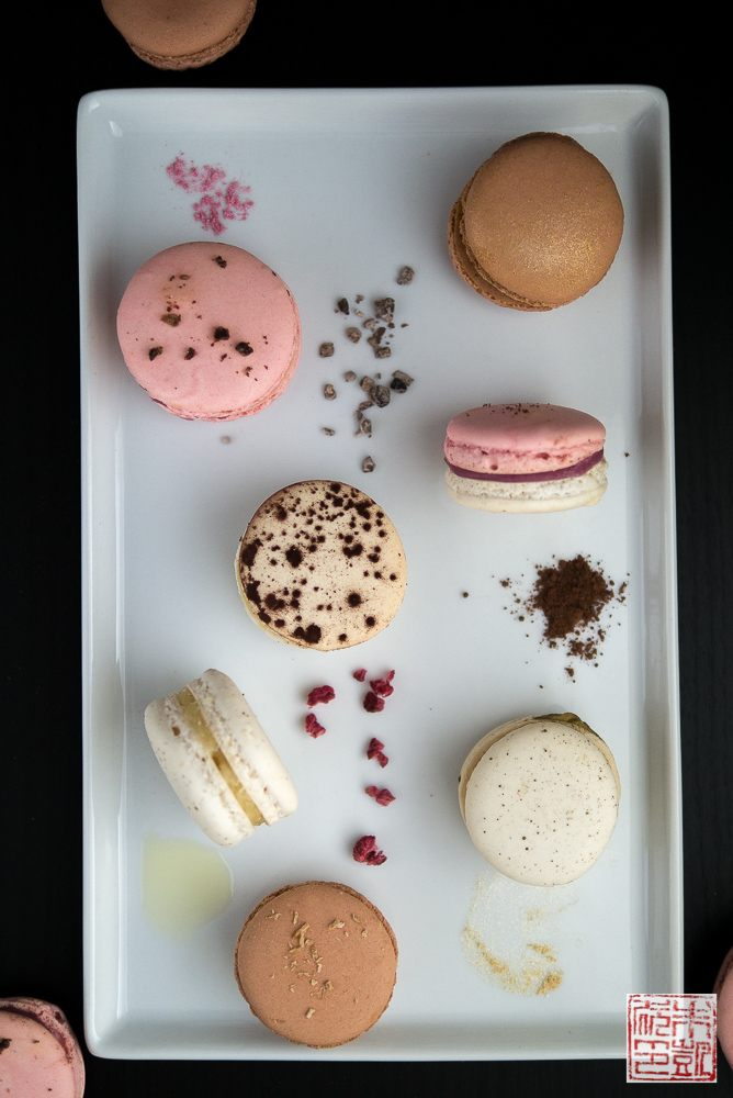 Lychee and Rose Macarons