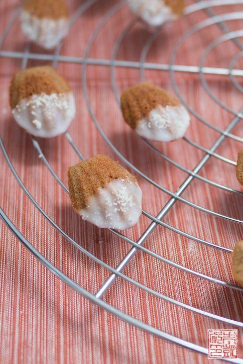 Mini Almond Madeleines closeup