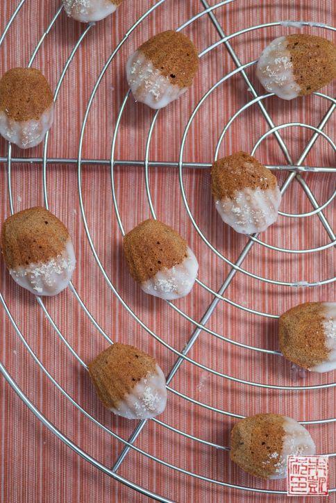 Mini Almond Madeleines rack