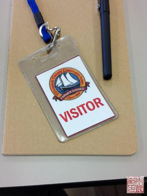tillamook visitor badge