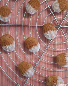 Almost Autumn: Grapeskin Flour and Almond Vanilla Madeleines
