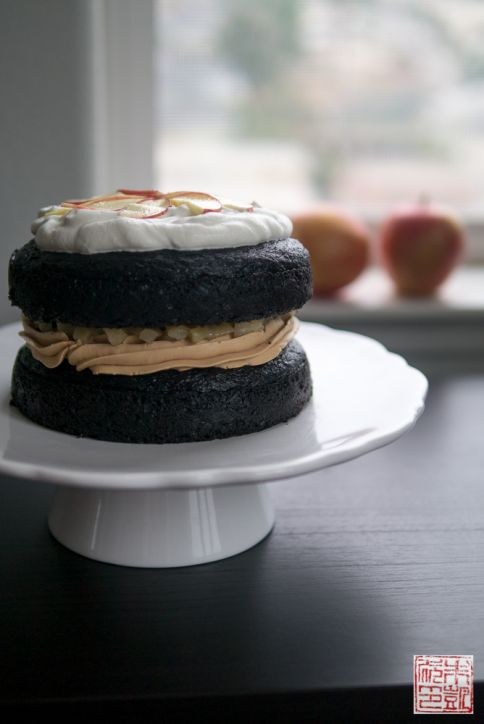 Apple Salted Caramel Chocolate cake window