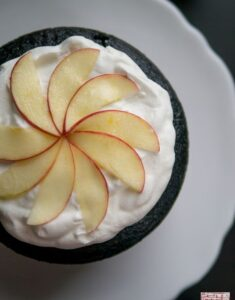 Chocolate Cake with Salted Caramel Buttercream and Apples