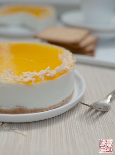Mango Coconut Cheesecake side 1