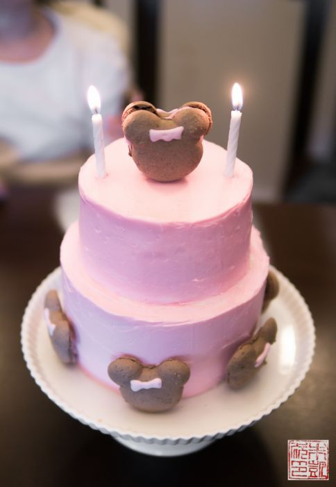 minnie mouse cake candles