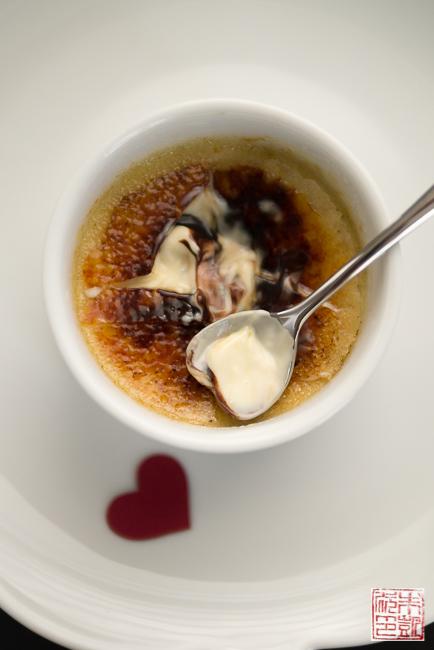 Chocolate vanilla creme brulee swirl