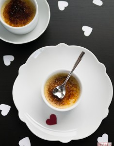 Black Bottom Chocolate and Vanilla Creme Brûlée for Valentine's Day