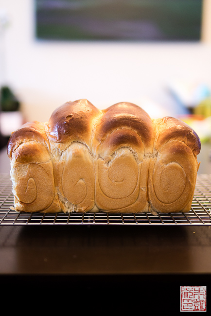 milk bread side view
