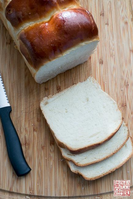 milk bread sliced