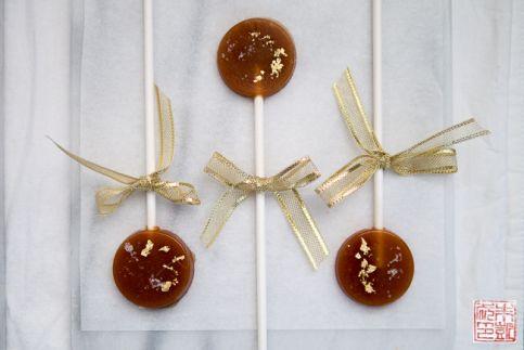 Caramel Fleur de Sel Lollipops trio